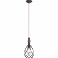 Quoizel QPP1775TC Piccolo Retro Tuscan Brown Finish 15  Tall Mini Pendant Light Fixture