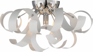 Quoizel RBN1616W Ribbons Modern White Lustre Xenon Flush Mount Lighting Fixture