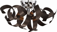 Quoizel RBN1616WT Ribbons Contemporary Western Bronze Xenon Flush Ceiling Light Fixture