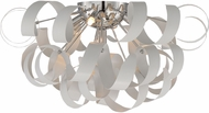Quoizel RBN1622W Ribbons Contemporary White Lustre Xenon Ceiling Lighting