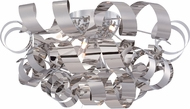 Quoizel RBN1628C Ribbons Contemporary Polished Chrome Xenon Flush Mount Lighting Fixture