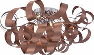 Quoizel RBN1628SG Ribbons Contemporary Satin Copper Xenon Flush Mount Ceiling Light Fixture
