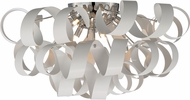 Quoizel RBN1628W Ribbons Contemporary White Lustre Xenon Ceiling Lighting Fixture