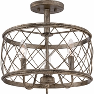 Quoizel RDY1714CS Dury Century Silver Leaf Finish 14.5  Wide Home Ceiling Lighting