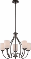 Quoizel RVE5005PA Riverside Polished Antique Nickel Chandelier Light
