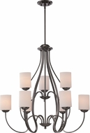 Quoizel RVE5009PA Riverside Polished Antique Nickel Chandelier Lighting