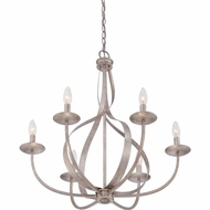Quoizel SER5006IF Serenity Italian Fresco Finish 27.5  Tall Chandelier Light
