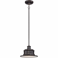 Quoizel SFD1911IB Seaford Retro Imperial Bronze Finish 8  Tall Exterior Pendant Light Fixture
