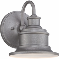 Quoizel SFD8407GV Seaford Vintage Galvanized Finish 7  Wide Outdoor Wall Sconce Lighting