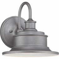 Quoizel SFD8409GV Seaford Vintage Galvanized Finish 9  Wide Outdoor Wall Light Sconce