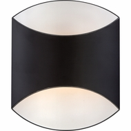 Quoizel SHT8801K Sheath Contemporary Mystic Black Finish 8  Wide Xenon Outdoor Wall Sconce