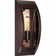 Quoizel SLO8405CU Solano Retro Copper Bronze Finish 14.5  Tall Outdoor Lighting Wall Sconce