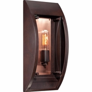 Quoizel SLO8407CU Solano Vintage Copper Bronze Finish 7.5  Wide Exterior Wall Lighting Sconce