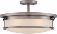 Quoizel SLR1716AN Sailor Contemporary Antique Nickel Overhead Light Fixture