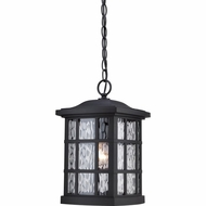 Quoizel SNN1909K Stonington Traditional Mystic Black Finish 15  Tall Outdoor Hanging Light Fixture
