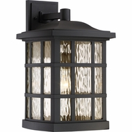 Quoizel SNN8411K Stonington Matte Black Outdoor Wall Sconce Lighting