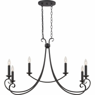 Quoizel SNS633K Salinas Traditional Mystic Black Finish 33.5  Wide Kitchen Island Light