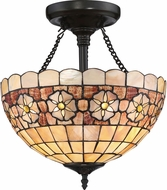Quoizel SSSB1714VB Sea Shell Sanibel Tiffany Vintage Bronze Flush Mount Ceiling Light Fixture