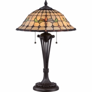 Quoizel TF1667TWT Harbor Tiffany Western Bronze Finish 23.5  Tall Table Lamp Lighting