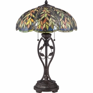 Quoizel TF1668TIB Belle Tiffany Imperial Bronze Finish 17  Wide Table Top Lamp