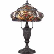 Quoizel TF1670TIB Floria Tiffany Imperial Bronze Finish 22  Tall Side Table Lamp