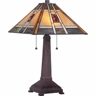 Quoizel TF1671T Catalina Tiffany 14  Wide Table Lamp
