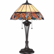 Quoizel TF1792TWT Tiffany Western Bronze Finish 24.5  Tall Table Top Lamp