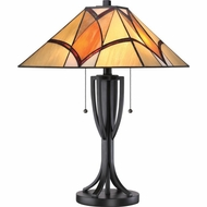 Quoizel TF1793TVA Tiffany Valiant Bronze Finish 15.5  Wide Side Table Lamp