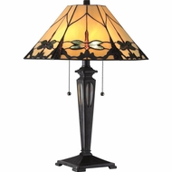 Quoizel TF1795TIB Tiffany Imperial Bronze Finish 16  Wide Table Light
