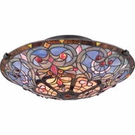 Quoizel TF1805SVB Tiffany Vintage Bronze Finish 17  Wide Ceiling Light