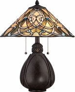Quoizel TF1846TIB Tiffany Imperial Bronze Side Table Lamp