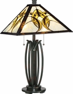 Quoizel TF1917TVA Tiffany Tiffany Valiant Bronze Table Lamp Lighting