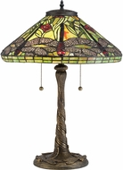 Quoizel TF2598T Tiffany Architectural Bronze Lighting Table Lamp