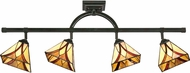 Quoizel TFAS1404VA Asheville Tiffany Valiant Bronze Flush Mount Light Fixture