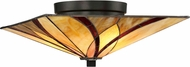 Quoizel TFAS1615VA Asheville Tiffany Valiant Bronze Flush Mount Lighting Fixture