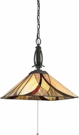 Quoizel TFAS1817VA Asheville Tiffany Valiant Bronze Drop Ceiling Light Fixture