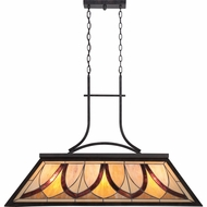 Quoizel TFAS344VA Asheville Tiffany Valiant Bronze Finish 29  Tall Island Light Fixture