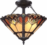Quoizel TFCB1716VB Cambridge Tiffany Vintage Bronze Ceiling Light Fixture