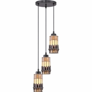 Quoizel TFCS1510VB Chastain Tiffany Vintage Bronze Finish 13  Wide Multi Drop Ceiling Lighting