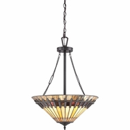 Quoizel TFCS2820VB Chastain Tiffany Vintage Bronze Finish 28.5  Tall Ceiling Light Pendant