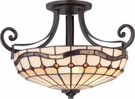 Quoizel TFDN1716IB Dayton Tiffany Imperial Bronze Ceiling Lighting Fixture