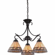 Quoizel TFEC5103VB Estacado Tiffany Vintage Bronze Finish 20  Tall Mini Lighting Chandelier