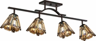 Quoizel TFIK1404VA Inglenook Tiffany Valiant Bronze Flush Ceiling Light Fixture