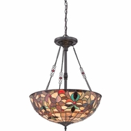 Quoizel TFKM2820VB Kami Tiffany Vintage Bronze Finish 20  Wide Drop Ceiling Light Fixture