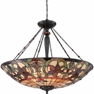 Quoizel TFKM2840VB Kami Tiffany Vintage Bronze Finish 33.5  Tall Drop Lighting Fixture