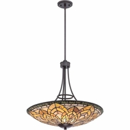 Quoizel TFMT2824IB Marietta Tiffany Imperial Bronze Finish 24  Wide Pendant Lighting