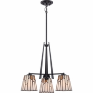 Quoizel TFRC5103K Rochelle Tiffany Mystic Black Finish 21.5  Wide Mini Hanging Chandelier