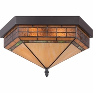 Quoizel TFSM1615VB Samara Vintage Bronze Finish 8.5  Tall Ceiling Light Fixture