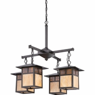 Quoizel TFSM5004VB Samara Craftsman Vintage Bronze Finish 28  Tall Chandelier Lamp