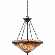 Quoizel TFST2822VB Stephen Tiffany Vintage Bronze Finish 27.5  Tall Pendant Lamp